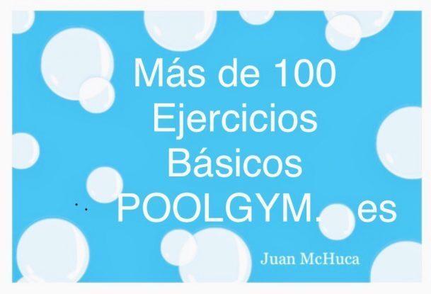 Cartel Más de 100 Ejercicios Básicos de POOL Gym .es