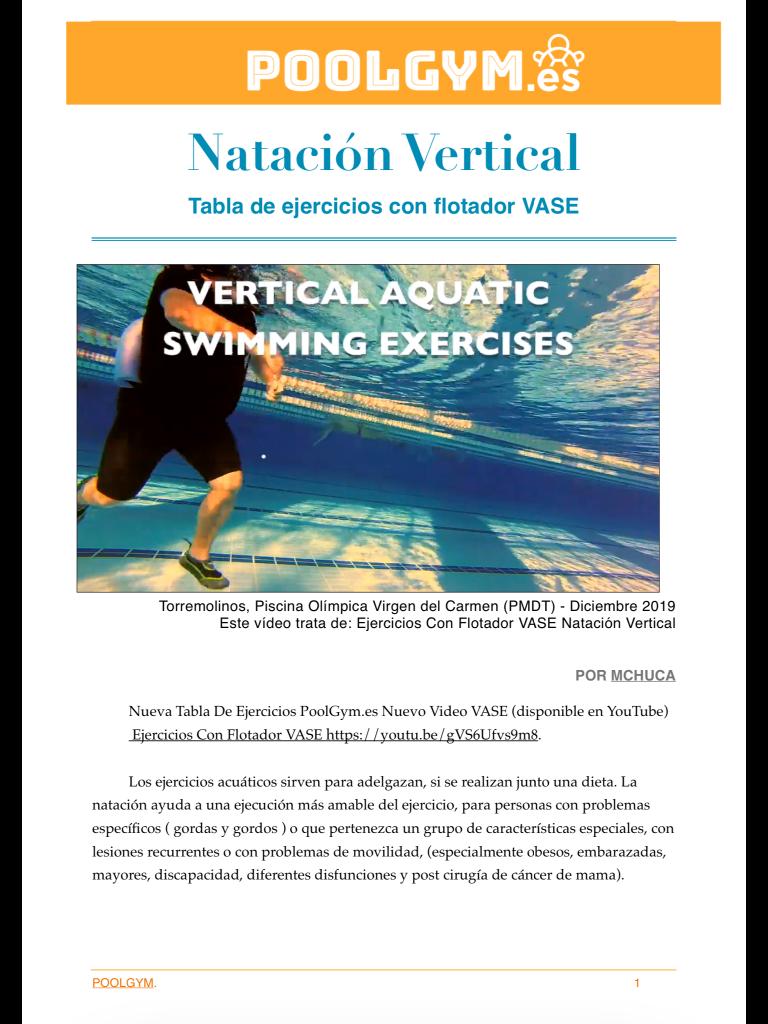 Tabla de ejercicios con flotador VASE