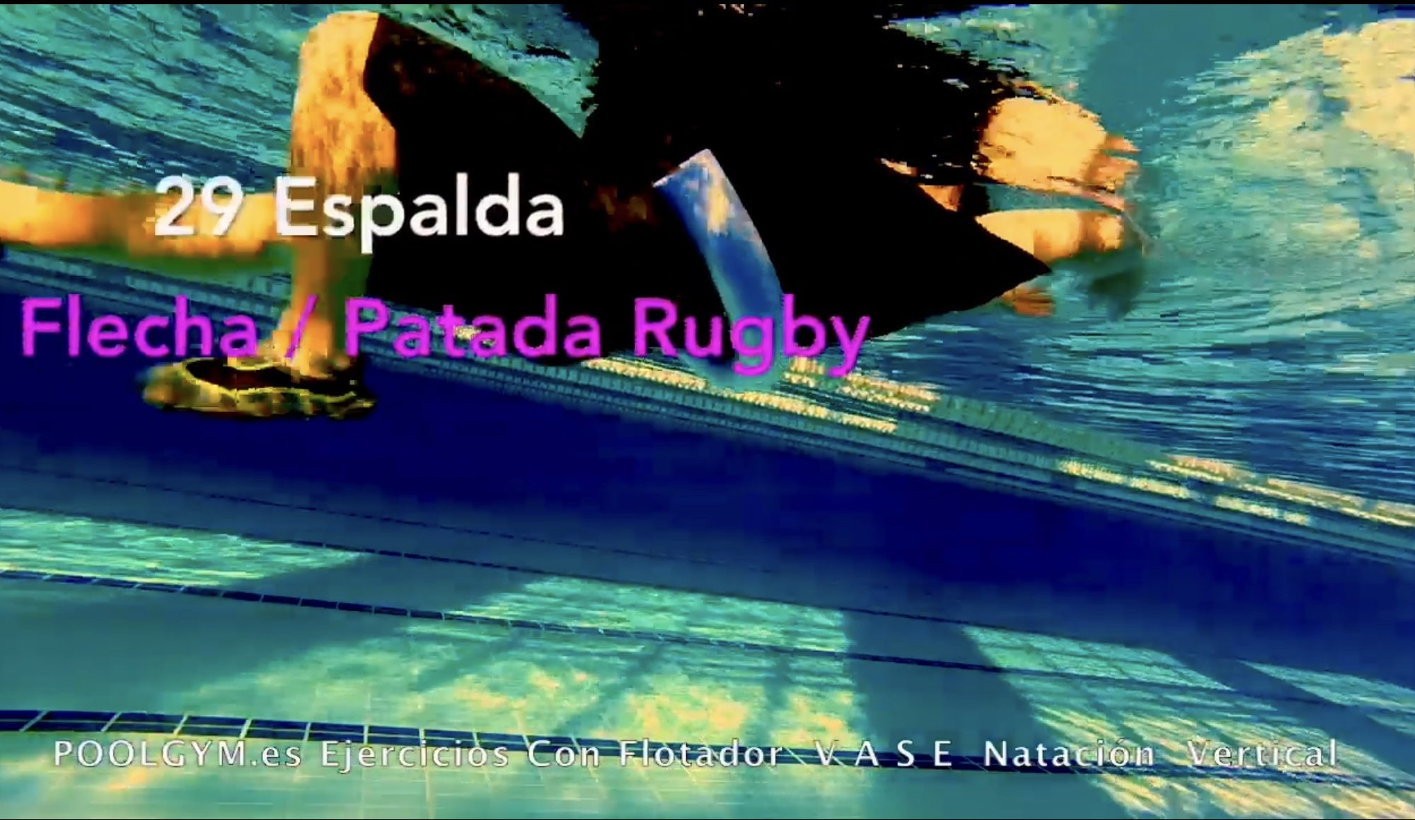 29 Espalda FLECHA PATADA DE RUGBY poolgym.ES